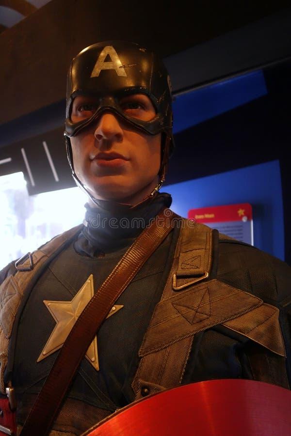 Kapitein America Wax Figure stock afbeelding