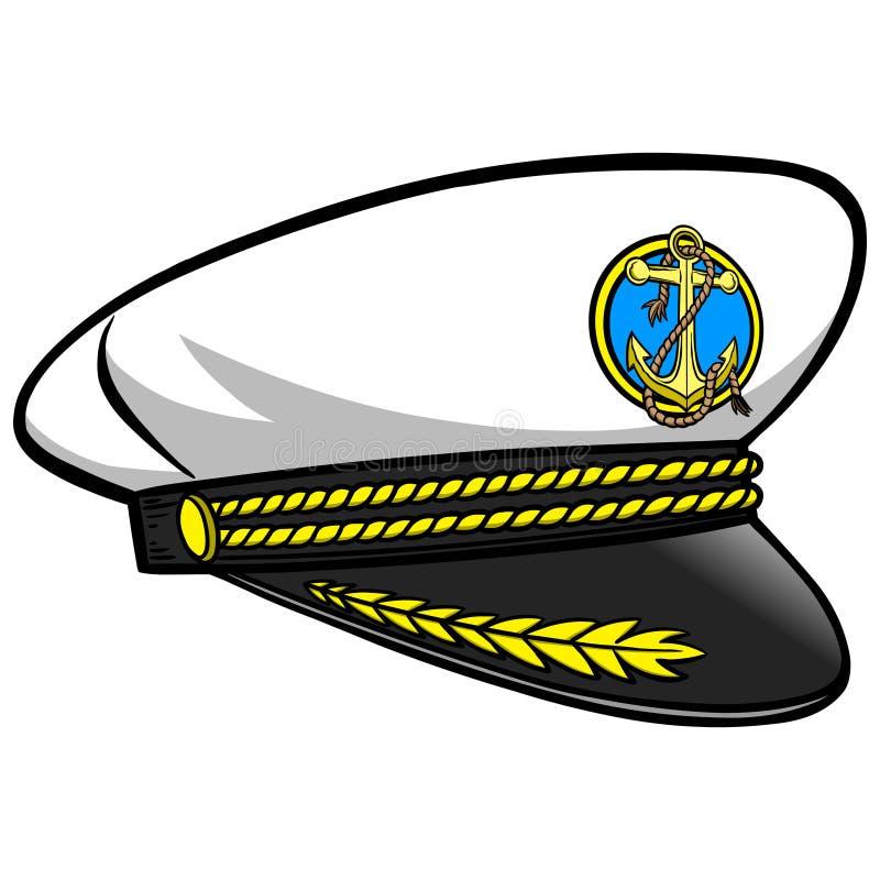 Kapitein Hat royalty-vrije illustratie