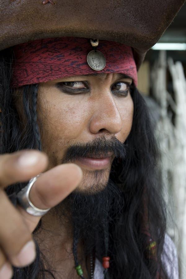 Kapitein Jack Sparrow, Piraten van de Caraïben stock afbeeldingen