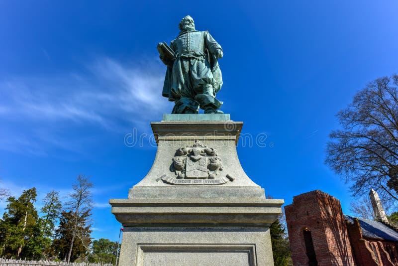 Kapitein John Smith - Jamestown royalty-vrije stock foto