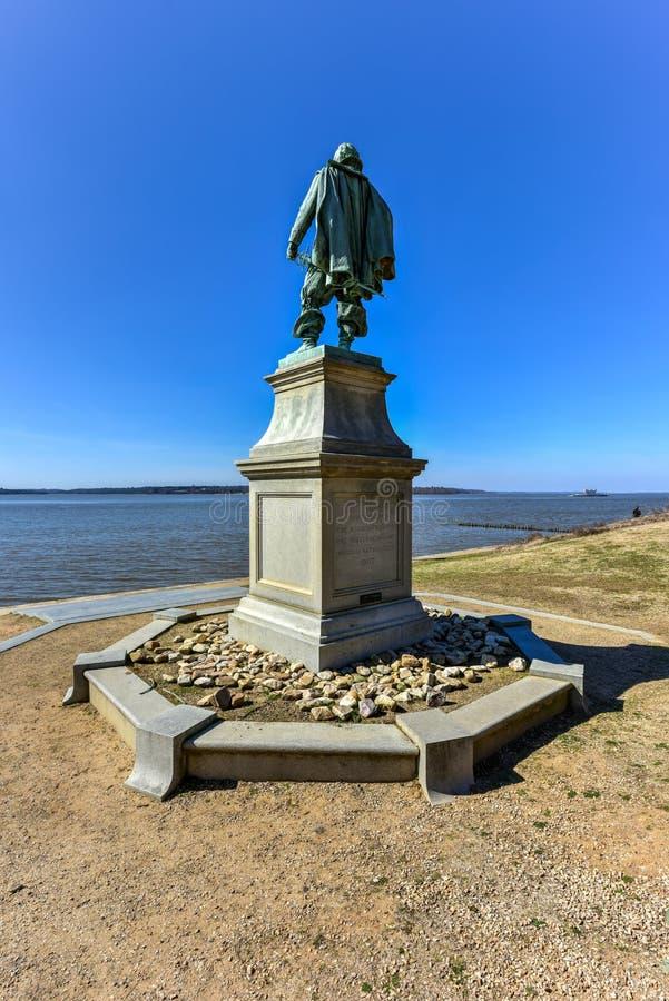 Kapitein John Smith - Jamestown royalty-vrije stock foto's