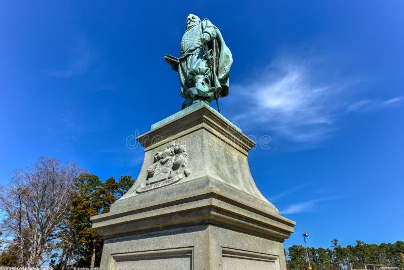 Kapitein John Smith - Jamestown stock foto's