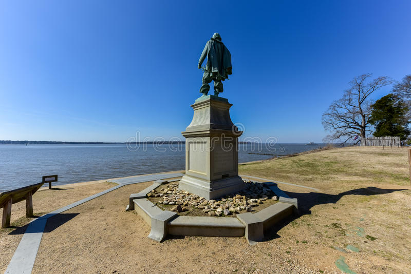 Kapitein John Smith - Jamestown stock foto