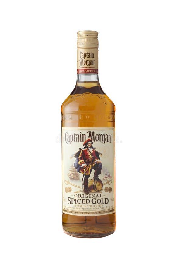 Kapitein Morgan is een merk van rum royalty-vrije stock foto