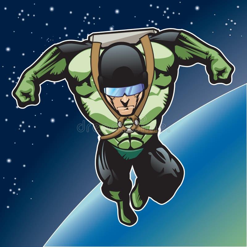 Kapitein Rocket 7 vector illustratie