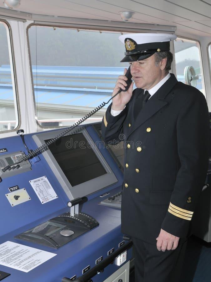 Kapitein van het oceaanschip royalty-vrije stock foto's