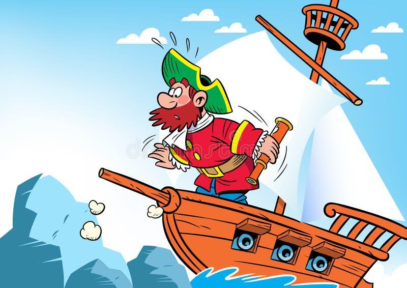 Kapitein van het schip royalty-vrije illustratie