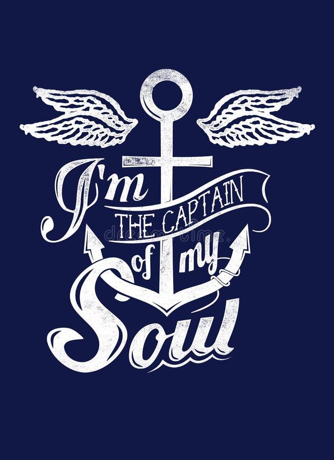 Kapitein van mijn ziel stock illustratie