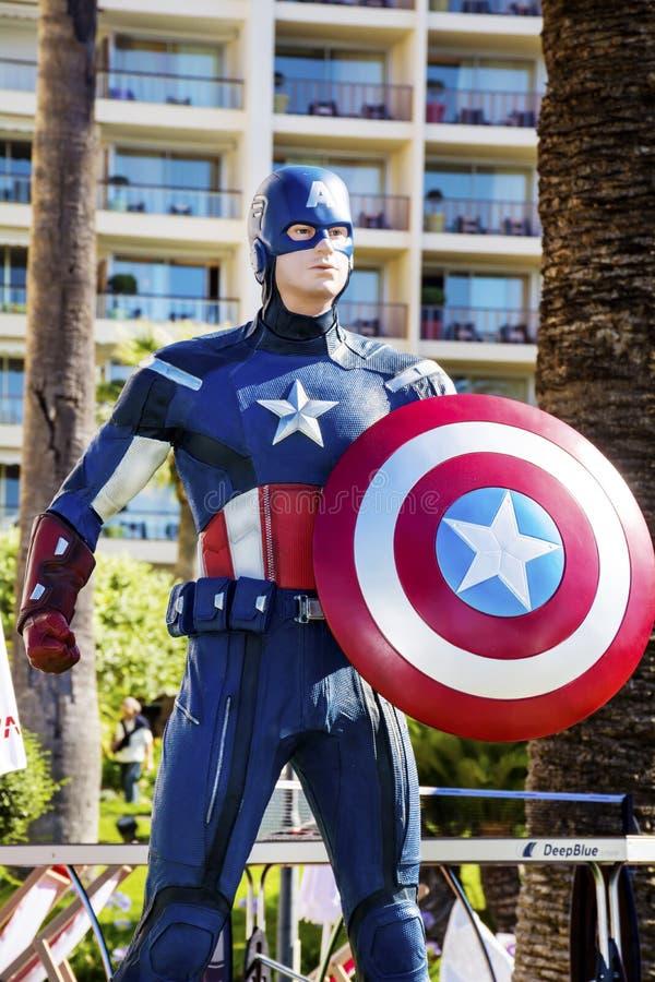 KapiteinsAmerica model royalty-vrije stock fotografie