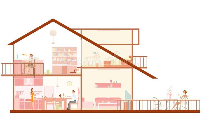 Kapitel des Hauses lizenzfreie abbildung
