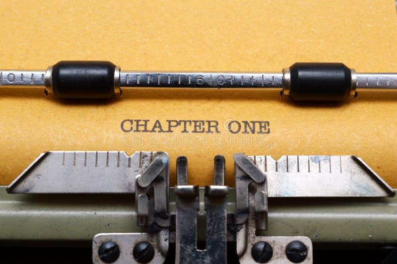 Kapitel eins lizenzfreie stockfotografie