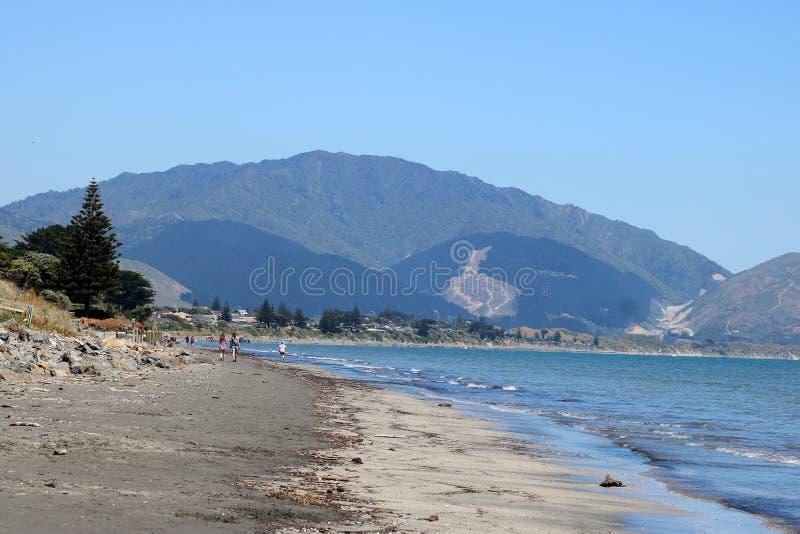 Kapiti Coast shore, North Island, New Zealand royalty free stock images