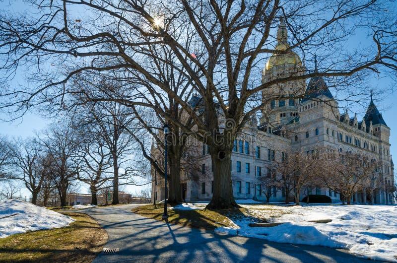 Kapitol-Gebäude Hartfords Connecticut lizenzfreie stockfotografie