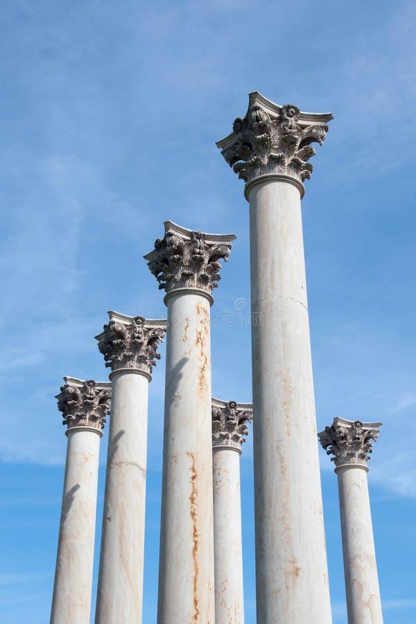 Kapitol-Gebäude-Spalten Vereinigter Staaten lizenzfreie stockfotos