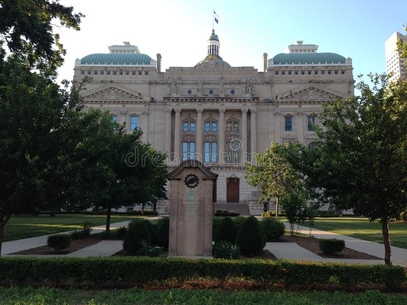 Kapitol-Gebäude von Indianapolis lizenzfreies stockbild