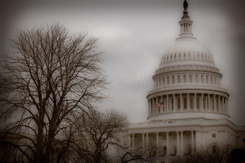 Kapitol-Gebäude - Washington DC - Weinlese stockfoto