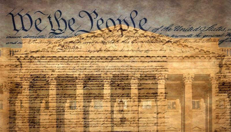 Kapitolgebäude Vereinigter Staaten mit berühmter Erklärung stockfotos