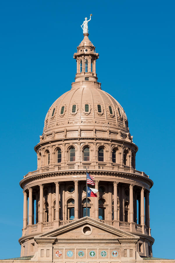 Kapitolhaube von Texas stockfotos