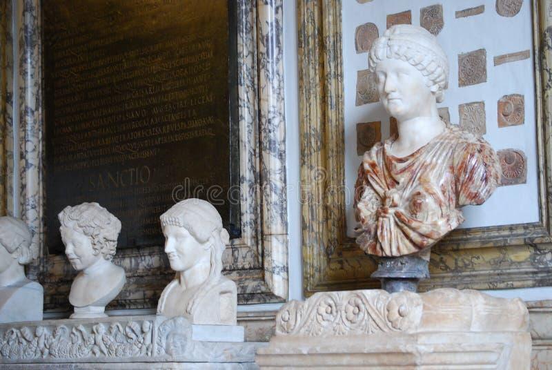 Kapitolińscy muzea w Rzym zdjęcia royalty free