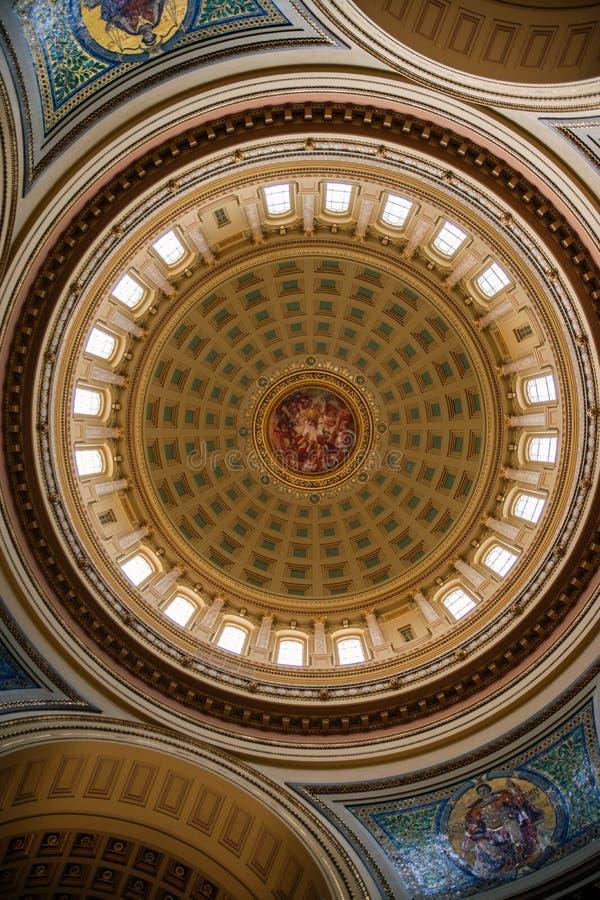 Kapitolium i Madison royaltyfri fotografi