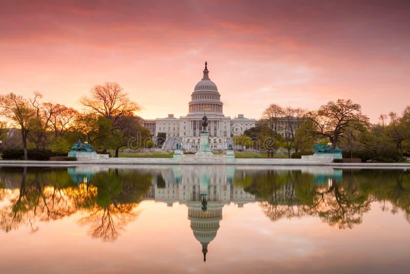 Kapitoliumbyggnad i Washington DC arkivbilder