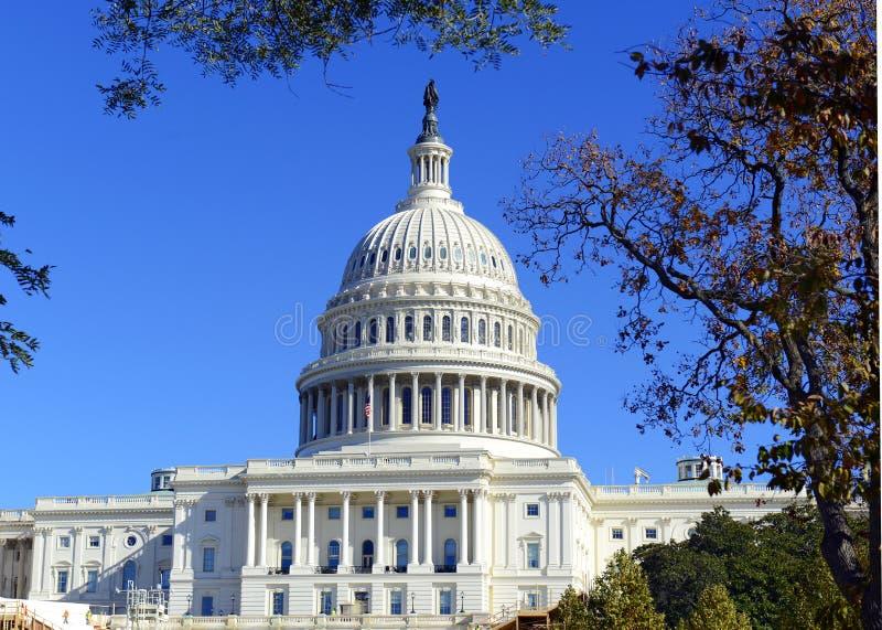 Kapitoliumbyggnaden i Washington DC, huvudstad av Amerikas förenta stater arkivfoton