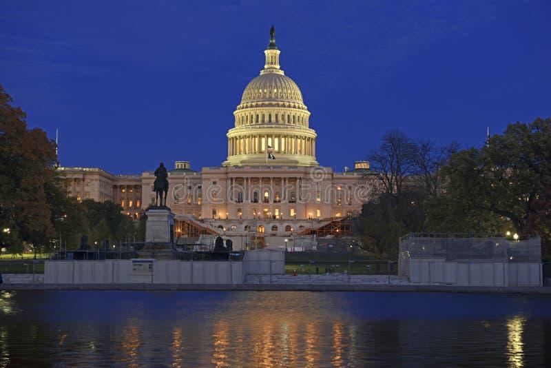 Kapitoliumbyggnaden i Washington DC, huvudstad av Amerikas förenta stater arkivbild