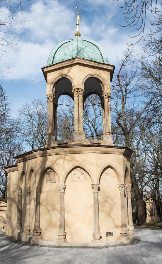 Kaple Boziho hrobu na Petrin wzgórzu w Praha mieście w republika czech zdjęcia stock