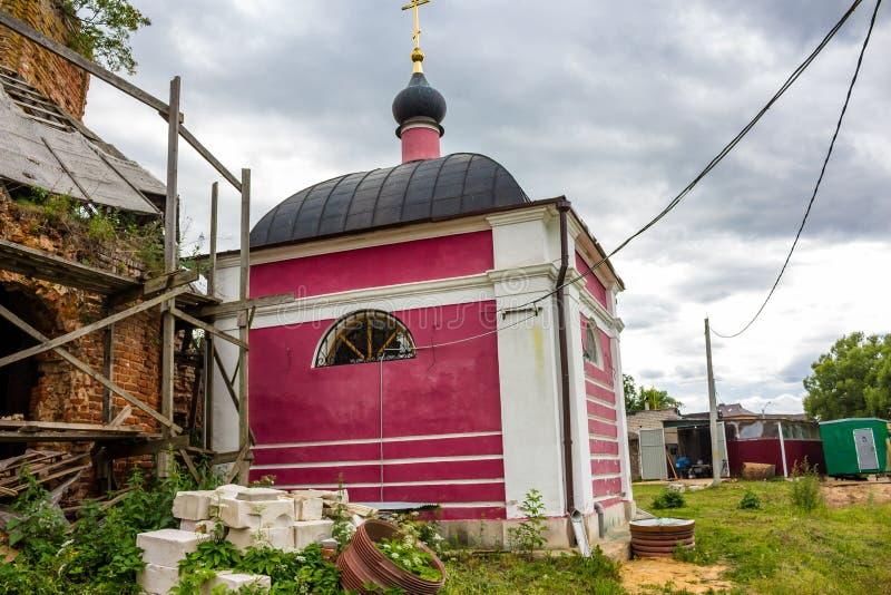 Kaplica Adrian i Natalia xix wiek Świątynny kompleks nieruchomość Grabtsevo obraz royalty free