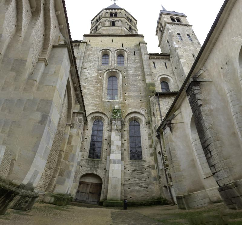 Kaplica Cluny opactwo saÃ'ne et Loire, Burgundy Francja Europa obraz stock