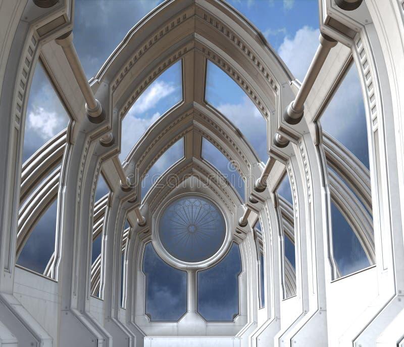 Download Kaplica futurystyczna ilustracji. Obraz złożonej z spok - 15978746
