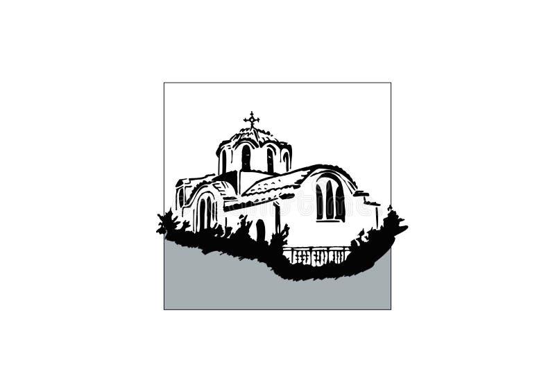 kaplica grek royalty ilustracja
