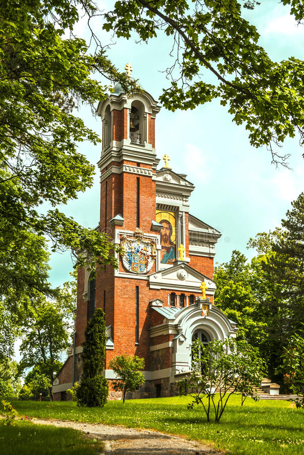 Kaplica grobowiec Svyatopolk-Mirski zdjęcia royalty free