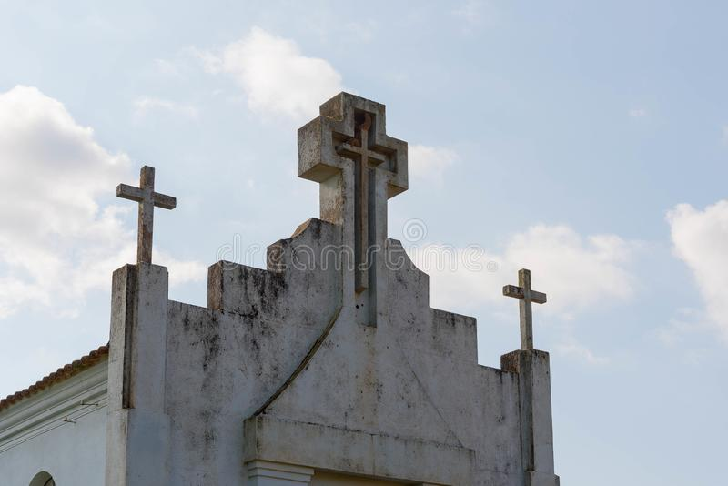 Kaplica i swój kolonialna architektura zdjęcia royalty free