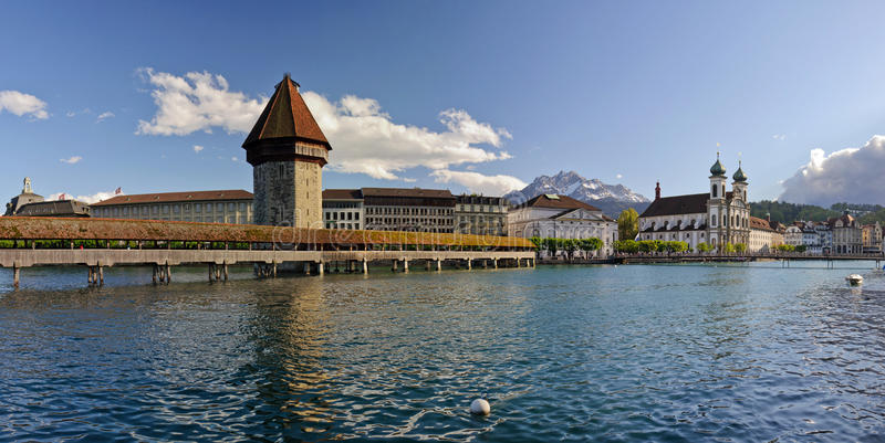 Kaplica most. Lucerna, Szwajcaria. zdjęcia royalty free