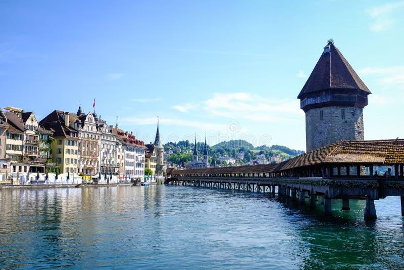 Kaplica most przy lucerną zdjęcie stock