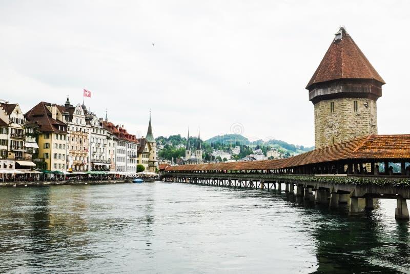 Kaplica most przy lucerną zdjęcia stock