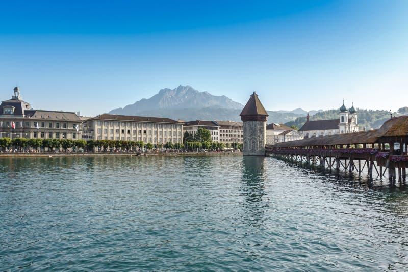 Kaplica most Szwajcaria lub Kapellbrucke zdjęcia stock
