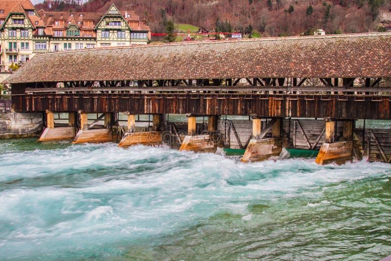 Kaplica most w Luzern, Szwajcaria fotografia stock