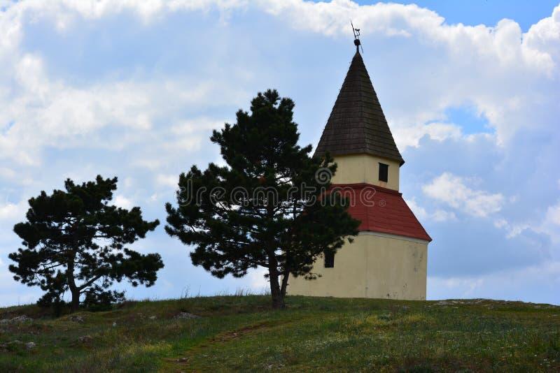 Kaplica na wzgórzu, calvary fotografia stock