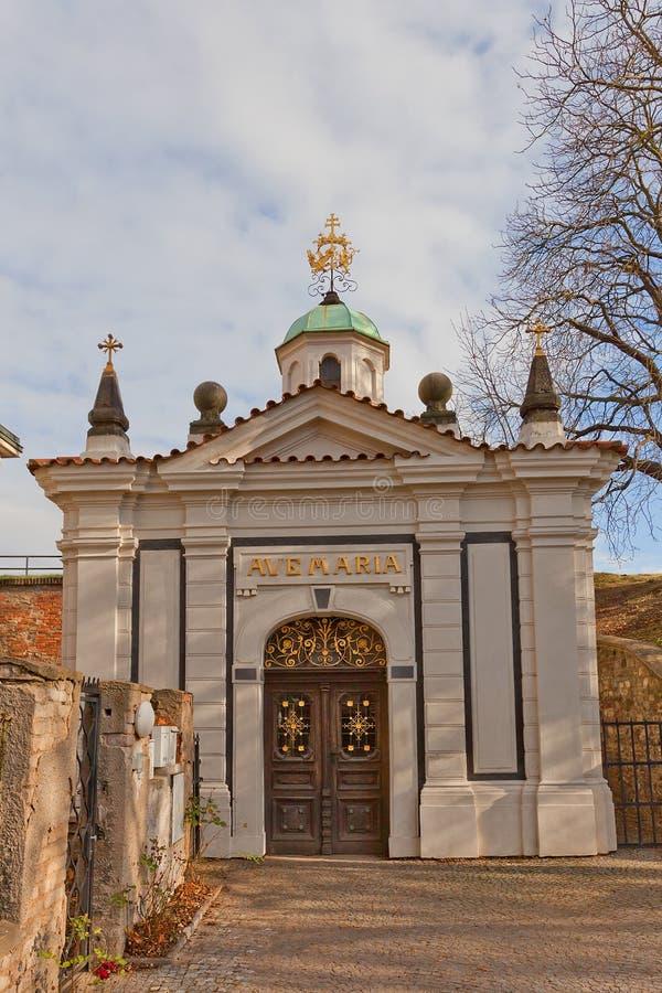 Kaplica Nasz dama Ramparts Vysehrad w Praga fotografia stock