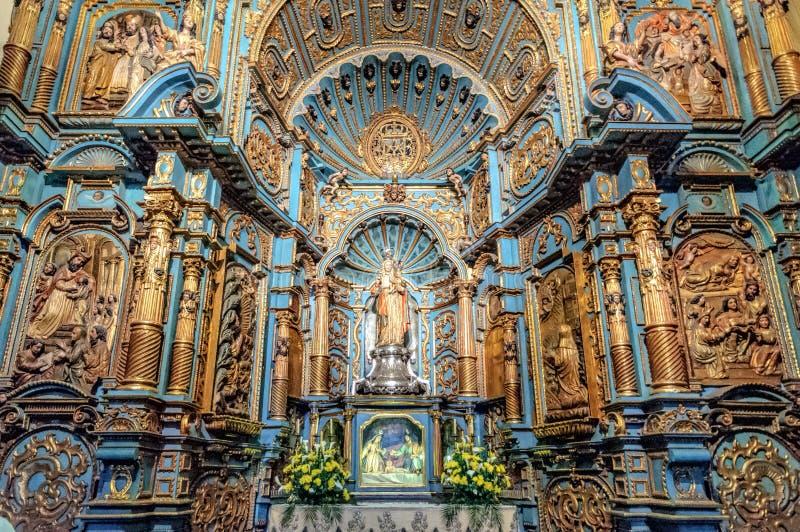 Kaplica Nuestra Senora De Los angeles Evangelizacion w Lima katedrze, Peru zdjęcia stock