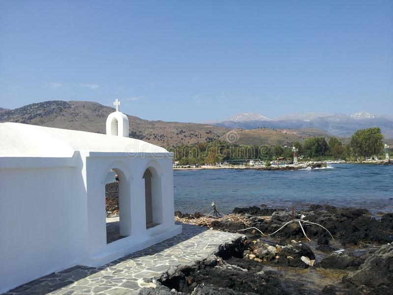 Kaplica przy Georgioupolis w Crete fotografia royalty free