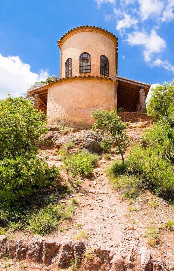 Kaplica St. Michael, góry Montserrat. Catalonia. Hiszpania obraz royalty free