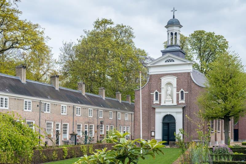 Kaplica w Holenderskim beguinage obraz royalty free