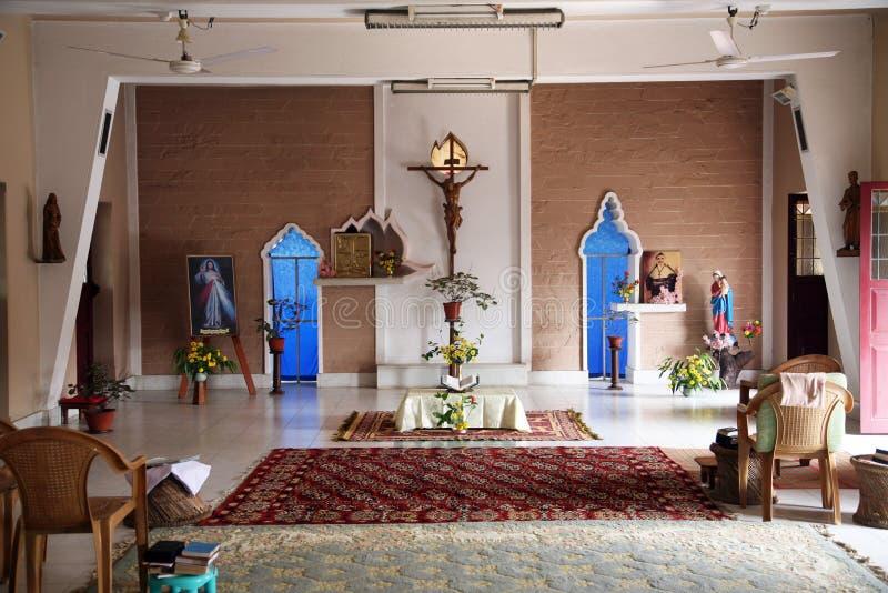 Kaplica w Małym kwiatu klasztorze w Basanti, India obraz stock