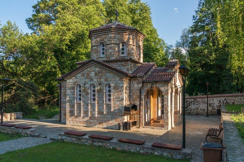 Kaplica w Macedonia blisko Ohrid jeziora zdjęcia stock
