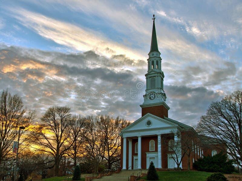 Kaplica w popołudniowym świetle zdjęcie royalty free