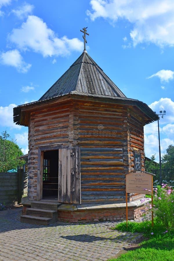 Kaplica xix wiek w muzeum drewniana architektura w Suzdal, Rosja fotografia stock