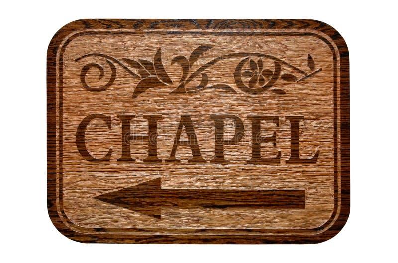 kaplica znak obrazy stock